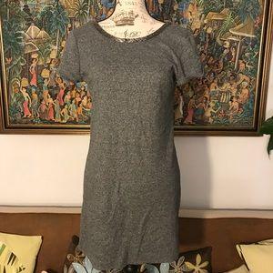 ANN TAYLOR LOFT gray jersey mini dress S